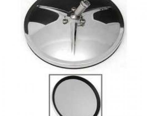Chevy Truck Outside Mirror, 5-5/8, Smooth Round, Chrome, 1947-1972