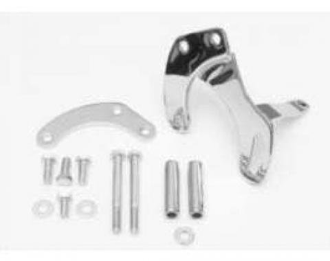 Chevy Truck Power Steering Pump Bracket Kit, Small Block, Chrome, 1967-1968