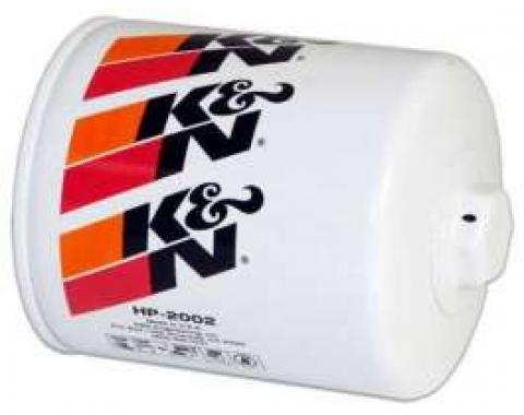 Chevy Oil Filter, K&N,Long, Screw-On, 1968-1992