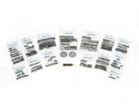 Chevy Truck Cab & Front End Sheet Metal Bolt Kit, Stainless Steel Button Head Bedless, 1967-1972