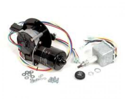 Chevy & GMC Truck Electric Wiper Motor, Replacement, With Delay Switch And Deep Mount, 1960-1966