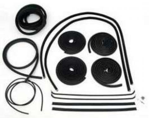 Chevy Truck Weatherstrip Kit, For Small Rear Glass, With Stainless Steel Molding, 1964-1966