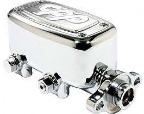 Chevy Truck Brake Master Cylinder, Proportioning Valve, & Metering Valve, 1 Bore, Polished, 1963-1972