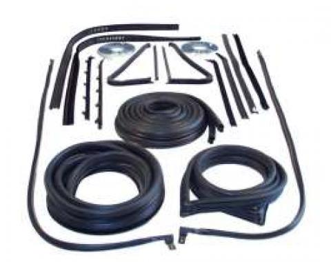 Chevy Truck Weatherstrip Kit, For Trucks With 3 Window Cab,1947-1948