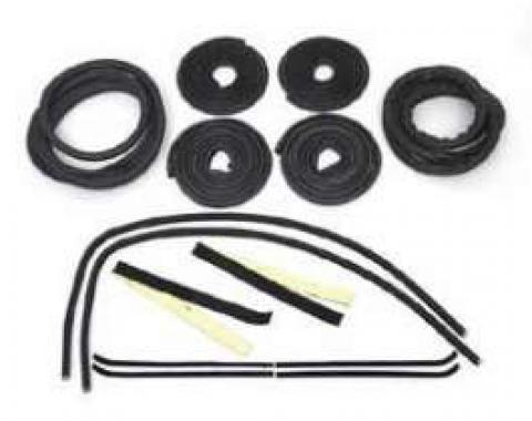 Chevy Truck Weatherstrip Kit, For Large Rear Glass, With Stainless Steel Molding, 1960-1963