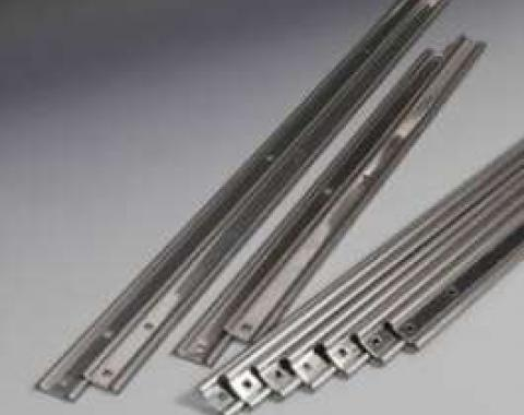 Chevy Truck Bed Strips, Stainless Steel, Unpolished, Short Bed, Step Side, 1967-1972