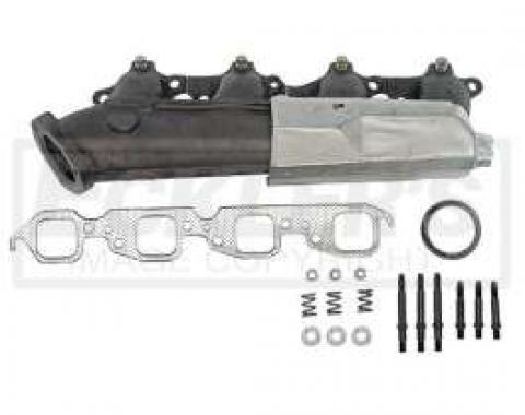 Chevy & GMC Truck Manifold. Exhaust, Right, 7.4L (454ci), w/Heat Shield, 1985-1997