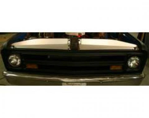 Chevy & GMC Filler Panels, Core Support, Clear Anodized, 1967-1968