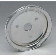 Chevy Truck Balancer Pulley Chrome, Single Groove, 1955-1972