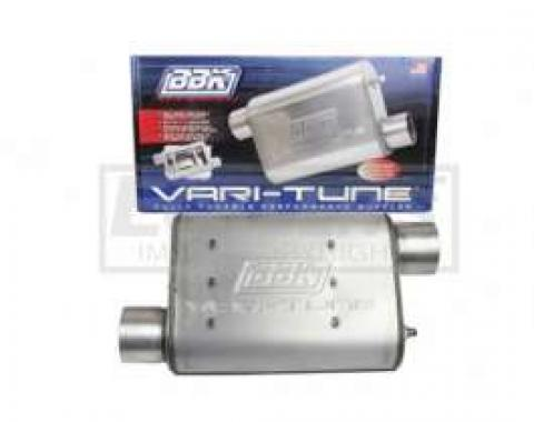 Truck BBK 2-1/2 Vari-Tune Adjustable Aluminized Steel Performance Muffler, Offset
