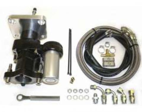Chevy Truck Brake Booster, Hydraboost, Long Pushrod, With Lines, 1967-1972