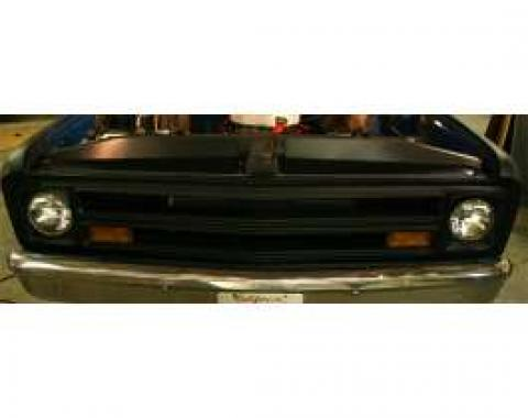 Chevy & GMC Filler Panels, Core Support, Black Anodized, 1969-1972