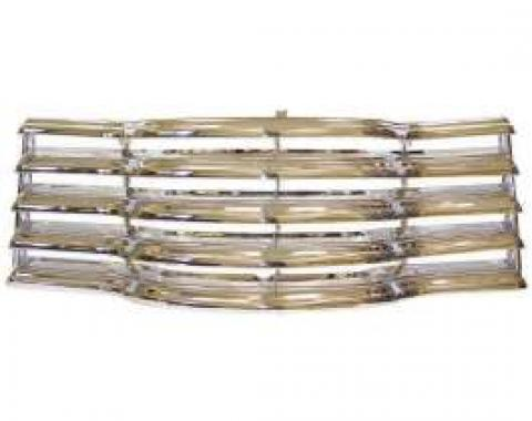 Chevy Truck Grille, Chrome With Black Painted Back Bars, 1947-1953