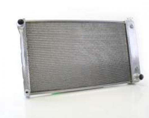 Chevy Truck Aluminum Radiator, Griffin, With 1-1/4 Tubes, Dual core, 1967-1972