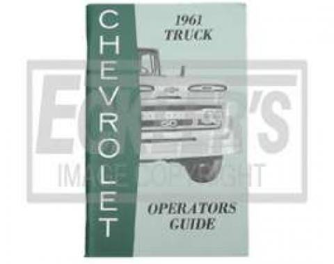 Chevy Truck Owner's Manual, 1961