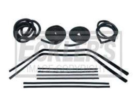 Chevy Truck Weatherstrip Kit, For Small Rear Glass, Without Stainless Steel Molding, 1967-1968