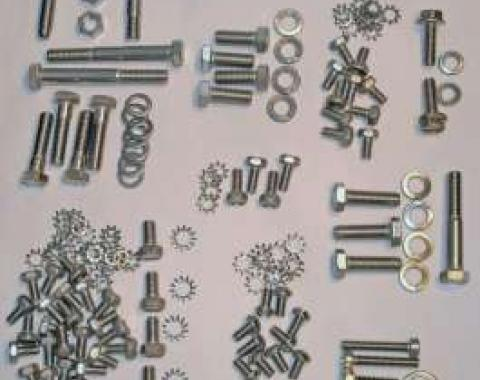 Chevy Engine Bolt Kit, Stainless Steel, 216ci, Use With Original Valve Cover, 1949-1953