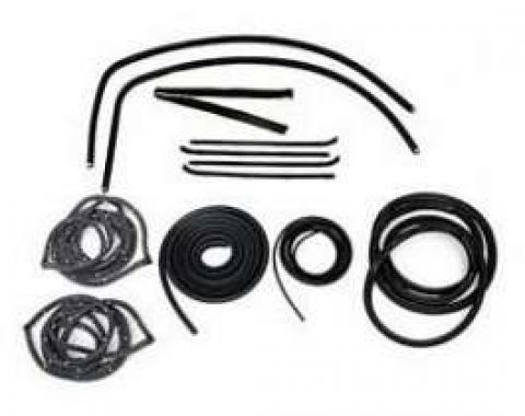 Chevy Truck Weatherstrip Kit, For Large Rear Glass, Without Stainless Steel Molding, 1955-1959