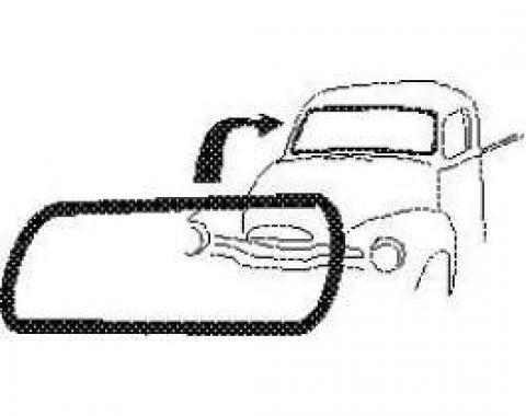 Chevy Truck Windshield Weatherstrip, For 1-Piece Glass & No Chrome, 1947-1953