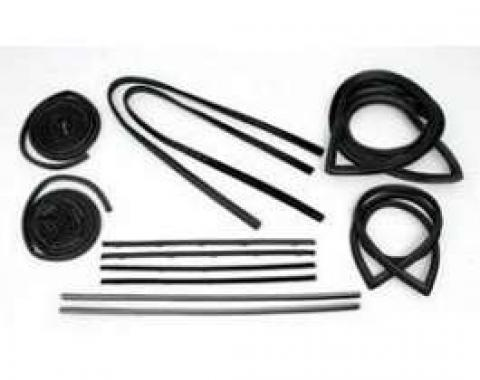Chevy Truck Weatherstrip Kit, For Small Rear Glass, With Stainless Steel Molding, 1967-1968