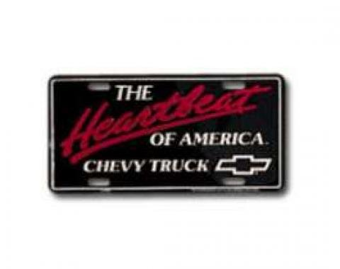 Chevy Truck License Plate, Heartbeat Of America