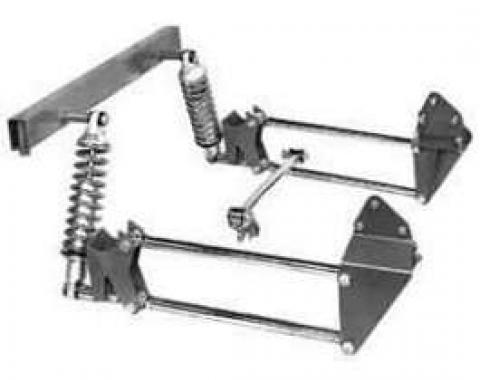 Chevy Truck Rear Suspension Kit, 4-Bar Steel, 1955-1959