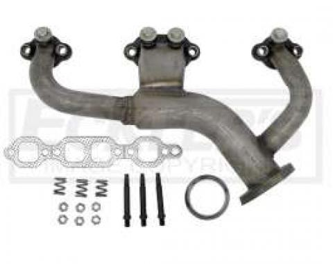Chevy & GMC Truck Manifold. Exhaust, Left, 5.7L (350ci), Stainless Steel, 1985-1988