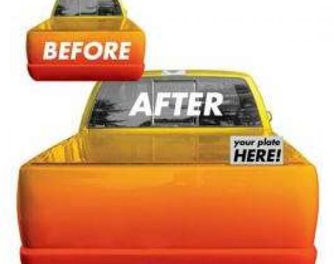 Chevy Truck & GMC Automatic Hidden License Plate Kit, Standard, 1967-1998