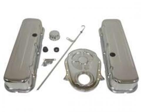 Chevy Truck & GMC Big Block Chrome Engine Dress Up Kit With Tall Smooth Style Valve Covers
