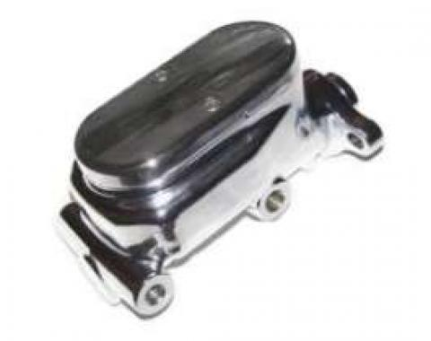 Chevy Truck Dual Master Cylinder, Chrome, Non-Power, 1947-1972