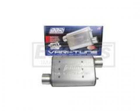 Truck BBK 3 Vari-Tune Adjustable Stainless Steel Performance Muffler, Offset