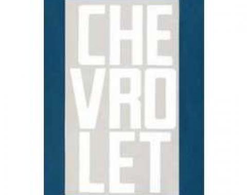 Chevy Truck Tailgate Letters, White, Fleet Side, 1958-1966