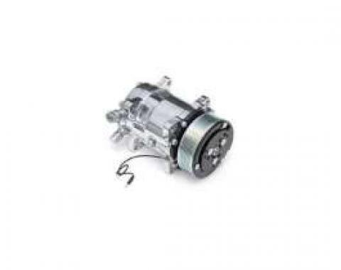Chevy Truck Air Conditioning Compressor, Polished, Sanden 508/134A, 1947-1972