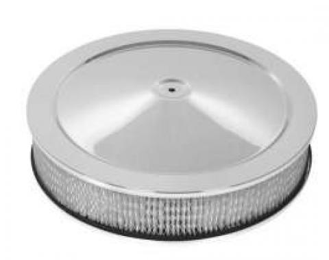 Chevy Truck & GMC Air Cleaner, Round Chrome, 14 X 3