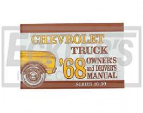 Chevy Truck Owner's Manual, 1968