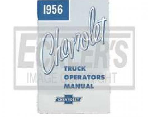 Chevy Truck Owner's Manual, 1956