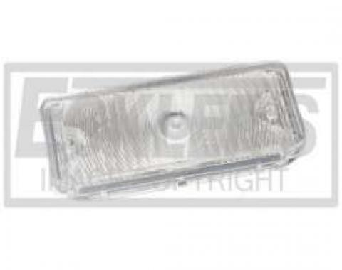 Chevy Truck Parking Light, Turn Signal Lens, Clear, Right, 1967-1968