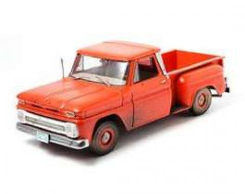Chevy Truck Model, Orange, 1:18 Scale, 1963