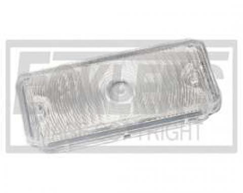 Chevy Truck Parking Light, Turn Signal Lens, Clear, Left, 1967-1968