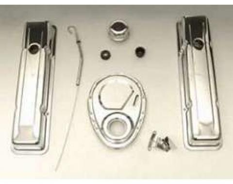 Chevy Truck Engine Dress-Up Kit, Chrome, Small Block, V8, 1955-1972