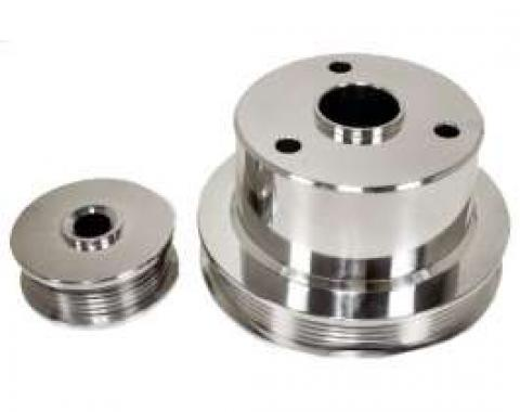 Chevy Truck Serpentine Pulley Set, Polished Aluminum, 1994-1996