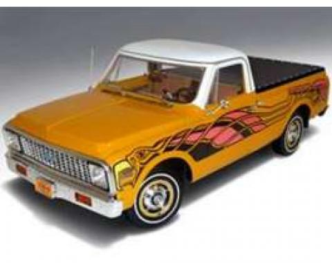 Chevy C-10 Model, Truck, Yellow, 1:18 Scale, 1972