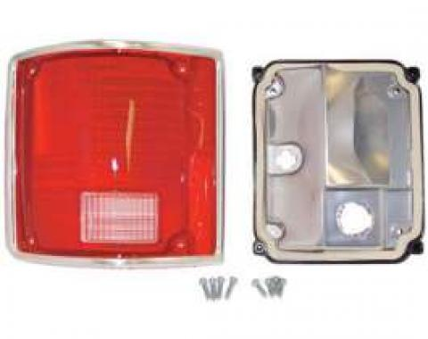 Chevy & GMC Truck Taillight Assembly, Fleetside/Blazer/Suburban/Jimmy, Left, Deluxe, 1973-1991