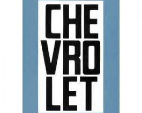 Chevy Truck Tailgate Letters, Black, Fleet Side, 1958-1966
