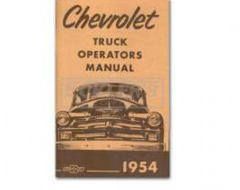 Chevy Truck Owner's Manual, 1954