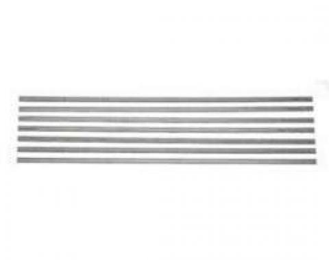 Chevy Truck Bed Strip Kit, Stainless Steel, Polished, 76-7/8, Short Bed, Step Side, 1951-1953