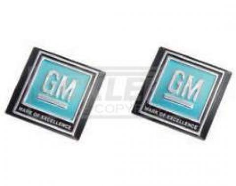 Chevy & GMC Truck Decal, Seat Belt Buckle, GM Mark Of Excellence, 1968-1972
