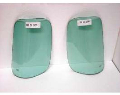 Chevy Truck Corner Glass, Rear, Left, With Green Tint, 1947-1954