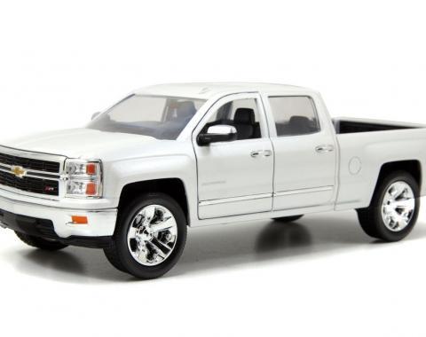 Chevrolet Silverado 2014, 1/24 White Die Cast Model Car