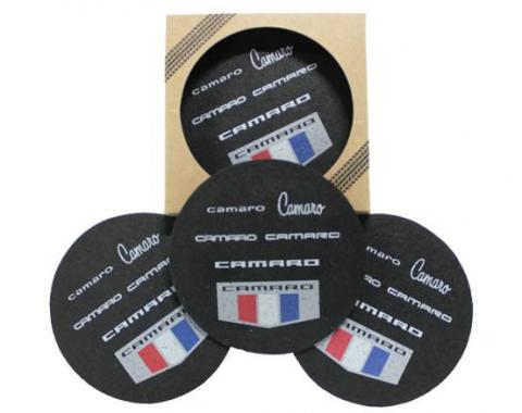 Camaro Generations Recycled Rubber Tire 4 Pack Coaster Set